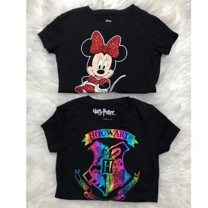 Little girls graphic tee bundle Minnie Mouse 6/6X